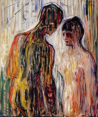 Amor and Psyche (Edvard Munch, 1907)